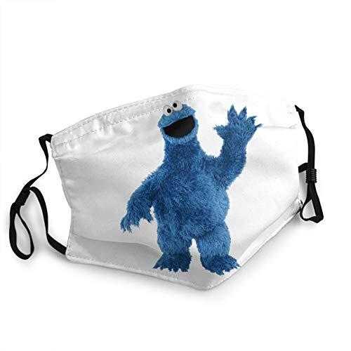 Sesamstraße Cookie Monster Waving Windproof Face Cover Sturmhaube Waschbares Tuch Für Manner Frauen