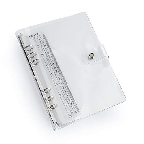 透明 手帳カバー A6 システム手帳 ボダン付き ノート メモ 手帳 学生用 オフィス用 日記帳