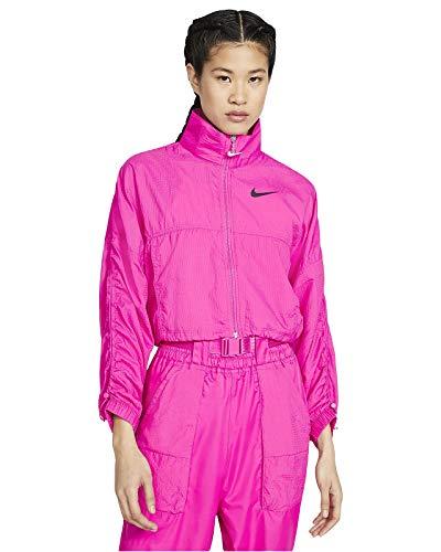 NIKE NSW Swsh Jkt Sport Jacket, Hombre, Active Fuchsia/Black, XS