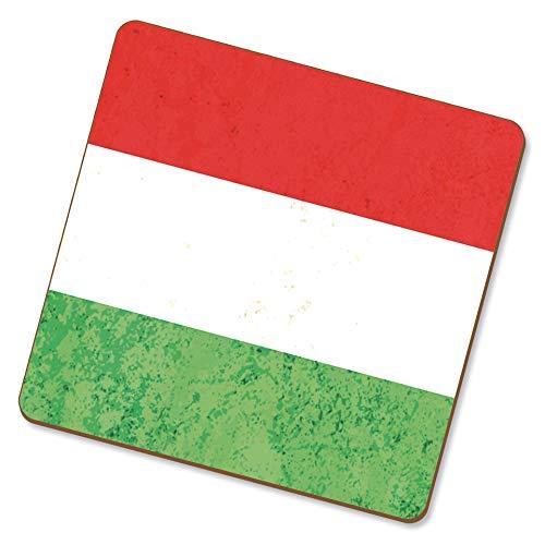 eSwish onderzetters drinken nationale vlaggen Hongaars/Hongaars.