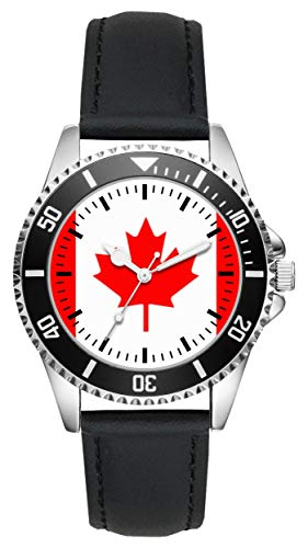 Kanada Canada Geschenk Artikel Idee Fan Uhr L-1135