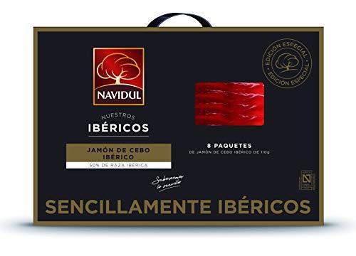 Navidul Maletín de Jamón de Cebo Ibérico (50% raza ibérica) freshpack 8x110g 880 g