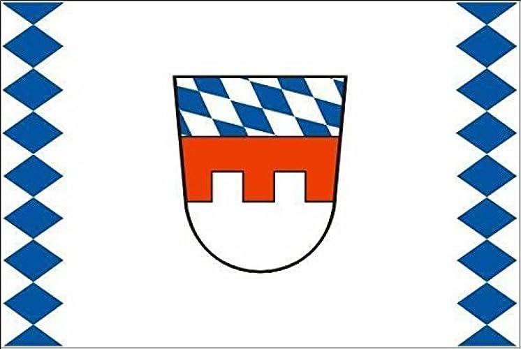 U24Drapeau du Pays Basse-Bavière haute qualité pour bateau drapeau 120x 180cm