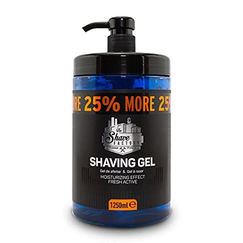 the shave factory ® rasiergel | Shaving Gel für Männer 1250ml Nassrasur | Rasieren | feuchtigkeitspendend | 25% mehr Gratis Inhalt | für die traditionelle Rasur