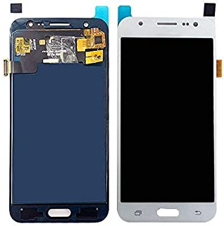 Touch for Samsung Galaxy J5 2015 J500 J500F J500FN J500M J500H LCD Display + Touch Screen Digitizer Assembly with Brightness Adjustable (White, J500 Sery)