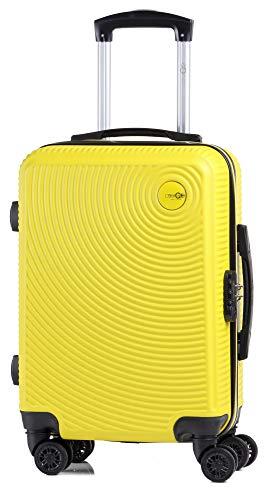 CABIN GO MAX 5512 Valigia Trolley ABS, bagaglio a mano 55x37x20, Valigia rigida, guscio duro e antigraffio con 8 ruote, Ideale a bordo di Ryanair, Alitalia, Air Italy, easyJet, Lufthansa