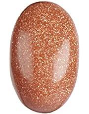 GEMHUB Piedra preciosa auténtica Sunstone de 8,85 quilates, natural certificada, corte ovalado, piedra preciosa suelta para joyería, manualidades y decoración