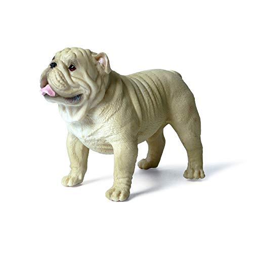 Hging Perro modelo juguete realista perro modelo grande realista gigurines doogs estatuas negro toro perros figuras juguetes de perro modelo animal estatuilla para niños bulldog regalos para hombres b