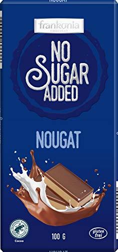 frankonia CHOCOLAT NO SUGAR ADDED Nougat Schokolade glutenfrei, 100 g