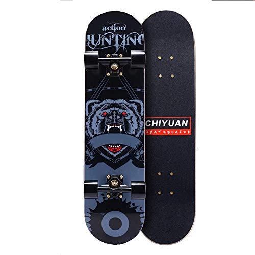 YSCYLY Mini Skateboard Retro Cruiser,Skateboarding Teenager Anfänger,Geeignet for Jugendliche/AnfäNger/Jungen/MäDchen/Kinder/Erwachsene