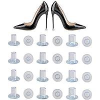Protector de Tacón Alto, URAQT Tacos para Tacones 12 Pares, Protectores Zapatos de Mujer para Razas, Bodas, Ocasiones Formales - Transparente