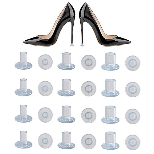 URAQT Protector de Tacón Alto, Tacos para Tacones, Protectores Zapatos de Mujer para Razas, Bodas, Ocasiones formales - Transparente