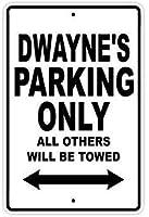 個人の場所の標識、インチ、ドウェインの駐車場他のすべてのもののみがけん引されます公園の標識公園のガイド警告標識私有財産の金属屋外の危険標識