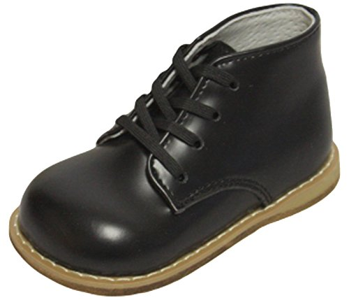 First Walkers Baby Walking Dress Leather Bootie (3.5 M US Toddler, Black)