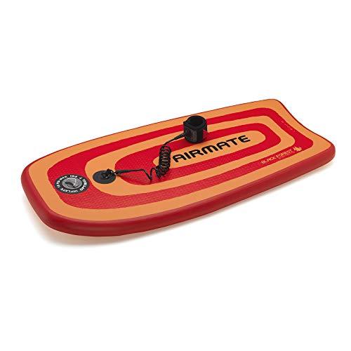 AIRMATE L Plus Leash, Bodyboard Inflatable, Boogieboard aufblasbar, incl. Professional Leash, Fangleine, Sportgerät, Premium Surf Board