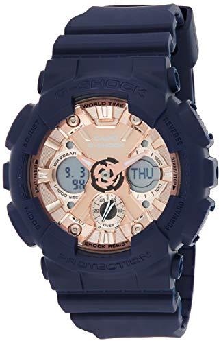 Casio G-Shock S-Series Analog-Digital Rose Gold Dial Women's Watch-GMA-S120MF-2A2DR