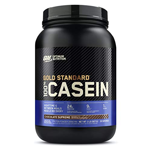 Optimum Nutrition Gold Standard Casein Slow Digesting Protein Powder Shake with Glutamine and Amino Acids, Chocolate Supreme, 27 Servings, 900 g