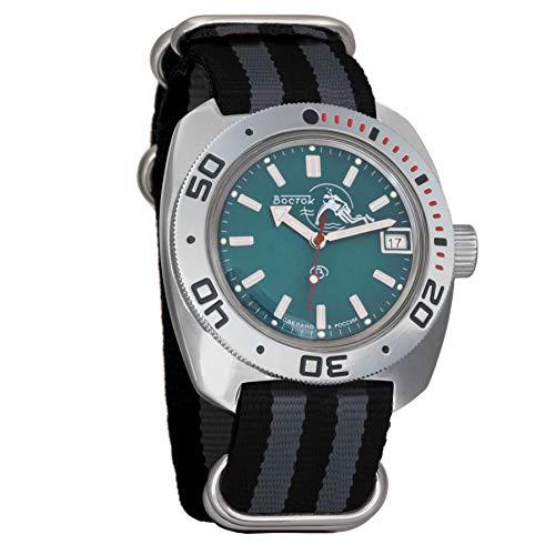 Vostok Amphibian Scuba Dude Automatic Mens Wristwatch Self-Winding Military Diver Amphibia Ministry Case Wrist Watch #710059