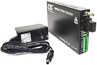 RS-232, RS-485, RS-422 data port to fiber optic media converter, multimode 1310nm, SC, 2Km - FIB1-SERIAL-SC2F