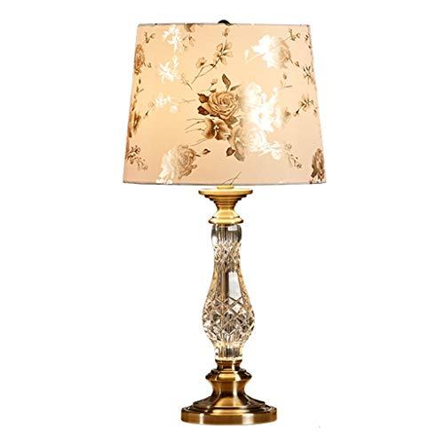 Lampara Mesilla Lámpara de mesa Lámpara de ojos Estudio manera de la tabla de la lámpara de cristal de estilo europeo lámpara de mesa de lujo dormitorio lámpara de cabecera modernos de la lectura Lámp