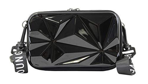 irisaa Bolso bandolera para teléfono móvil, de plástico ABS, forma de maleta, bolso cruzado, diseño 3D, superficie pequeña para el teléfono móvil