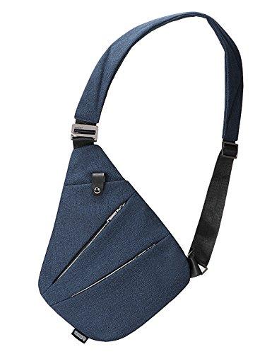 Sling Bag Chest Shoulder Backpack Crossbody Bags for Men Boys Travel Outdoors (Blue)