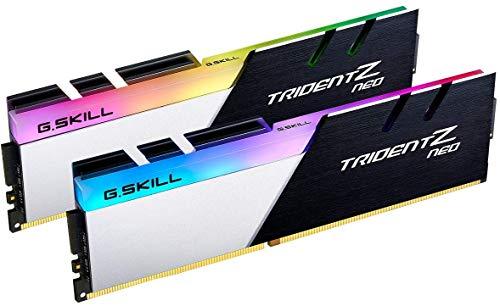 G.Skill Trident Z NEO Series 32GB (2 x 16GB) 288 pines SDRAM DDR4 4000 (PC4-32000) CL18-22-22-42 1.40V Dual Channel Desktop Memory Modelo F4-4000C18D-32GTZN