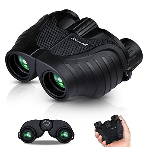 Binoculars 15x25, HD Professional/Waterproof Binoculars with Low Light Night Vision, Durable & Clear BAK4 Prism FMC Lens Binoculars. Suitable for Outdoor Sports and Concert, Bird Watching