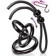 VIARDEJI Cock Ring Sex Toys – 3 Penis Rings & 1 Adjustable Tie for Stronger Erection & Better Blood Flow – Bigger Harder & Firmer Penis