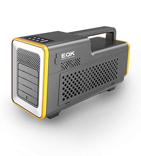 Emerson Quiet Kool, EAP01 Portable Camping Air Conditioner with LED Light and Bluetooth Speaker, Gray