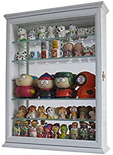 Small Wall Curio Cabinet Shadow Box Display Case 18.5