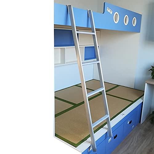 ZXXL Taburete Escalera Escalera de Litera de 116 cm de Largo Solo para Adolescentes/Niñas/Niños, Escalera de Litera de Metal Ajustable para Caravanas con Ganchos, Carga 150 kg, Fácil de Montar
