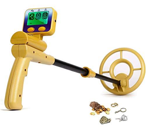 Intey - Detector de metales de alta precisión, pantalla LCD, símbolo de diana y profundidad, bobina de búsqueda impermeable, detección del oro, las uñas y otros metales, regalo