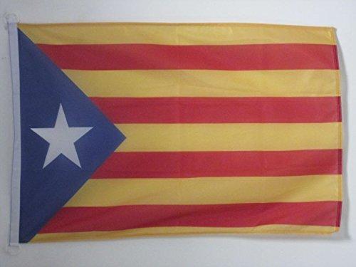 AZ FLAG Bandera de CATALUÑA ESTELADA BLAVA 150x90cm Uso Exterior - Bandera CATALANA INDEPENDENTISTA – Catalunya 90 x 150 cm Anillos