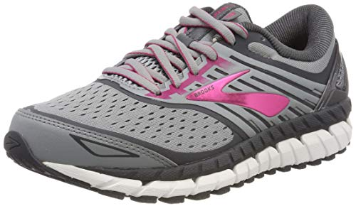 Brooks Womens Ariel '18 - Grey/Grey/Pink - 8.5 - B Medium