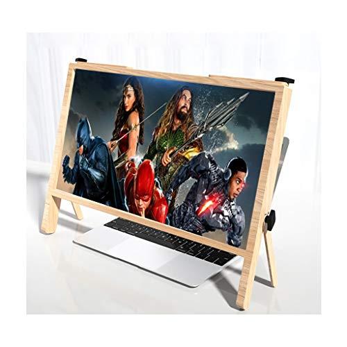 Monitor Lupe Laptop, Bildschirmlupe für Laptop 21-Zoll-Ultra-Clear-Bildschirm-Erweitern Halterung, Desktop-Vergrößerung Laptop-Bildschirmlupe für Sehbehinderte ( Color : Wood color , Size : 21 Inch )