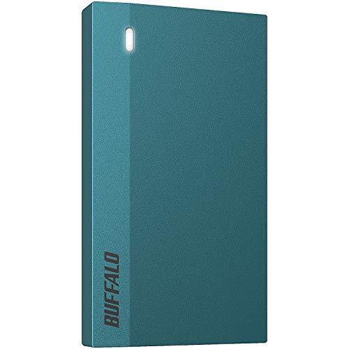 バッファロー SSD 外付け 960GB 超小型 コンパクト ポータブル PS5/PS4対応(メーカー動作確認済) USB3.2Gen1 モスブルー SSD-PSM960U3-B/N