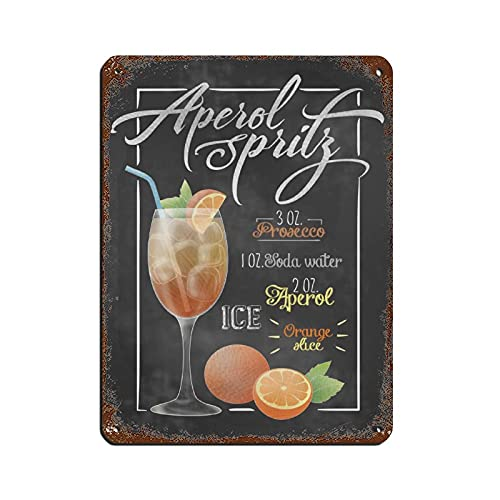 Aperol Spritz Cocktail-Bar Retro Tafel...