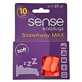 SnoreAway MAX Ohrstöpsel für Schnarchen aus SENSE Extreme Weichheit und Komfort Schlaf-Beihilfen SNR
