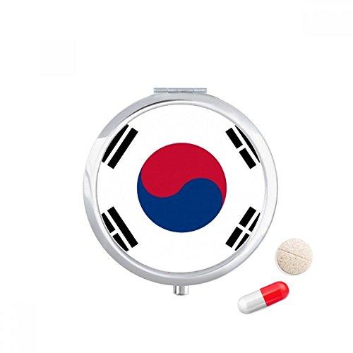 DIYthinker Zuid-Korea Nationale Vlag Azië Land Reizen Pocket Pill case Medicine Drug Opbergdoos Dispenser Spiegel Gift