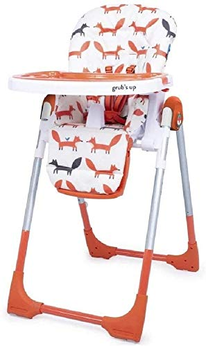 Cosatto Noodle 0+ Highchair |Compact, Height Adjustable, Foldable, Easy Clean, From birth to 15kg (Mister Fox)