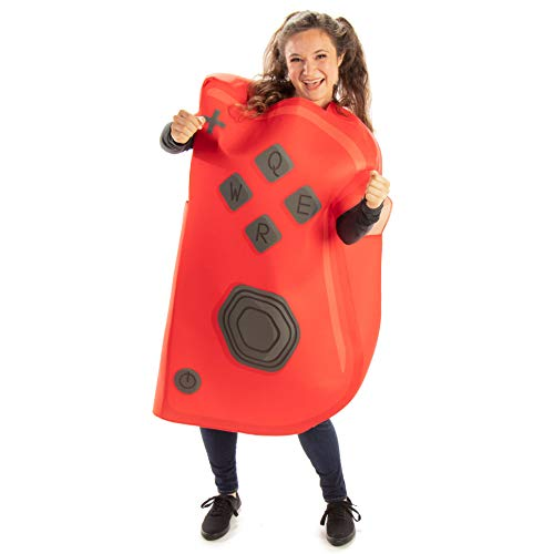 Joyful Controller (Red) Halloween Costume - Unisex Adult Video Game Outfit