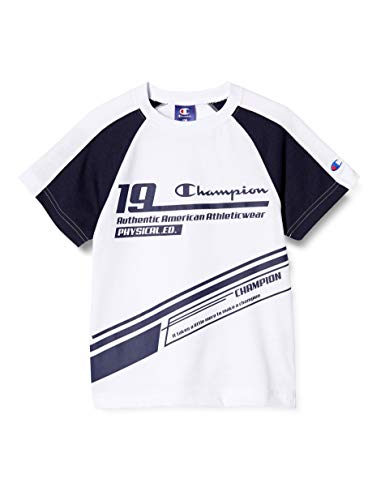[チャンピオン] Tシャツ スクリプトロゴ ボーイズ スポーツ CK-TS315 ホワイト 130