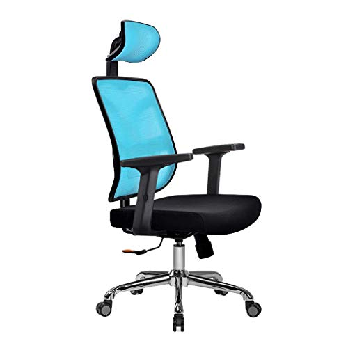 Silla de Oficina ergonomician Silla de la computadora con un comodo Estudio reclinable Silla giratoria Dormitorio sillas Gaming Drift RVTYR (Color : Blue Black)