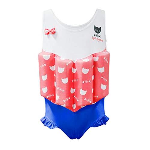 Gogokids meisjes Float pak drijvende zwemkleding - baby kinderen een stuk drijfvermogen zwempak mouwloos zwemmen strand kostuum Floation zwemmen training