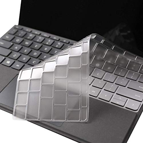 MasiBloom TPU Keyboard Cover for Microsoft Surface Go & Go 2 10 10.5 inch (2020 2018 Released) Ultra Thin Tablet Protector Skin (TPU- Clear, for 10/10.5' Surface Go/Go 2)