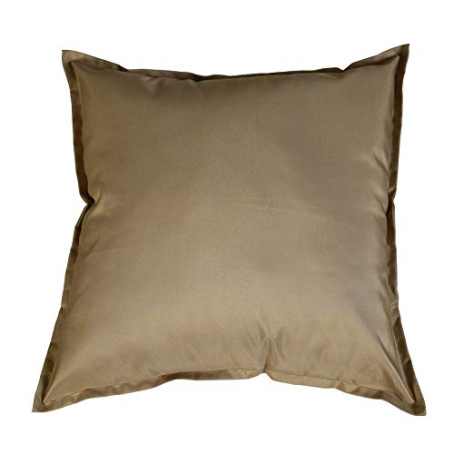 iStyleMode Pack Of 2 Outdoor Garden Filled Cushion Covers Waterproof - 18' X 18' - Breathable Fabric - 45cm x 45cm (Mink)