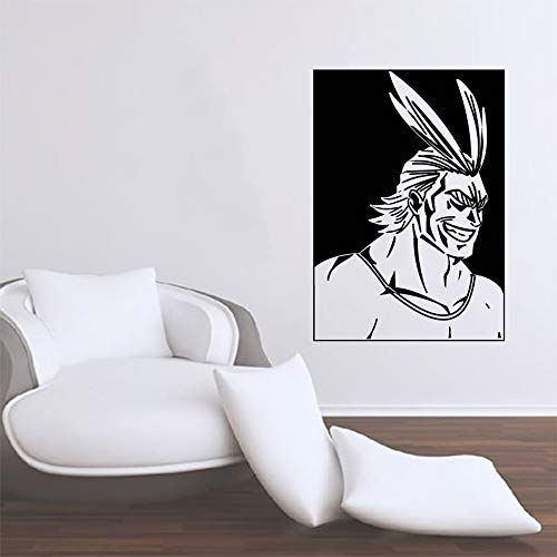 Anime Cartoon Manga Comics My Hero Academia Muscle All Might Etiqueta de la pared Etiqueta engomada del coche Vinilo Art Decal Boy Fans Dormitorio Sala de estar Club Decoración del hogar Mur