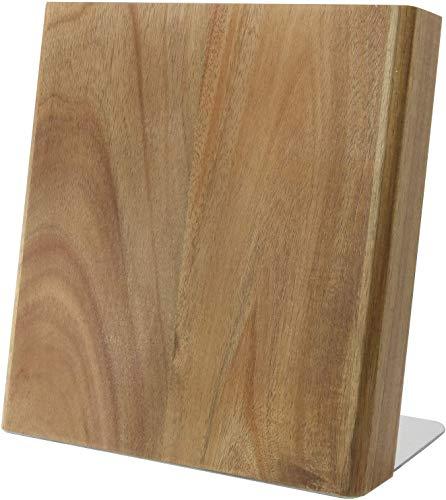 Coninx Quin XL Portacoltelli Blocco Magnetico – Ceppo Vuoto - Modello Universale in Legno di Acacia -per Coltelli di Cucina