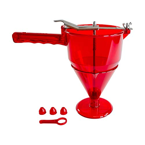 Fat Daddio's Confectionery Funnel, 1-Liter, Translucent Red